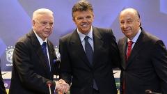 Marin e Del Nero apresentam Gilmar Rinaldi, coordenador-geral de seleções da CBF