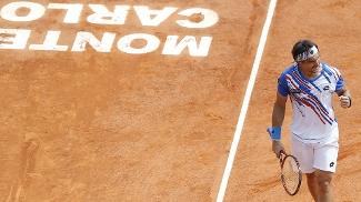 David Ferrer Comemora Rafael Nadal Tênis Masters 1000 Monte Carlo 18/04/2014