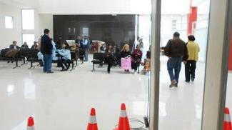 Saguão de embarque do Aeroporto Internacional de Oruro