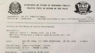 Pais de dois atletas do sub-11 do Palmeiras registraram B.O por rojão atirado no campo após a final do Paulista