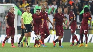 Roma reclamou muito da arbitragem na derrota