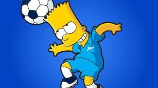 Bart Simpson com uniforme do Zenit, da Rússia