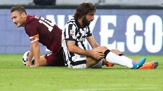Totti e Pirlo no clássico: veteranos imprescindíveis para Roma e Juventus