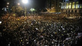 Segundo a PM, 100 mil pessoas protestaram no Rio de Janeiro