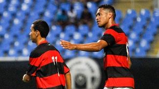 Hernane marcou para o Flamengo no clássico deste domingo contra o Botafogo, no Engenhão