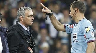 José Mourinho, técnico do Real, foi expulso pelo árbitro da partida por reclamação