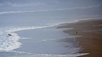 O mar em Nazaré