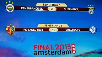 Sorteio define os duelos das semifinais da Uefa Europa League: Fenerbahce x Benfica e Basel x Chelsea