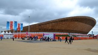 Velódromo construído para a Olimpíada-2012