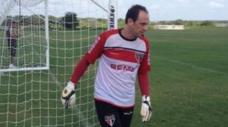 Rogério Ceni, em treinamento do São Paulo
