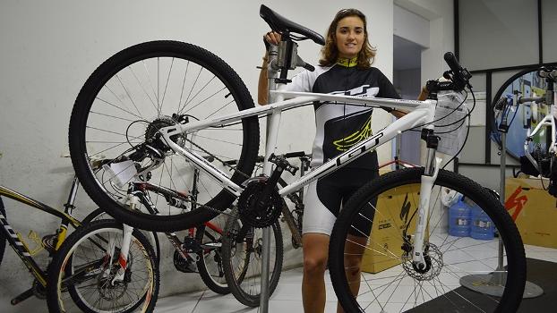 Bicicleta que demos de presente para o jogador do Criciúma