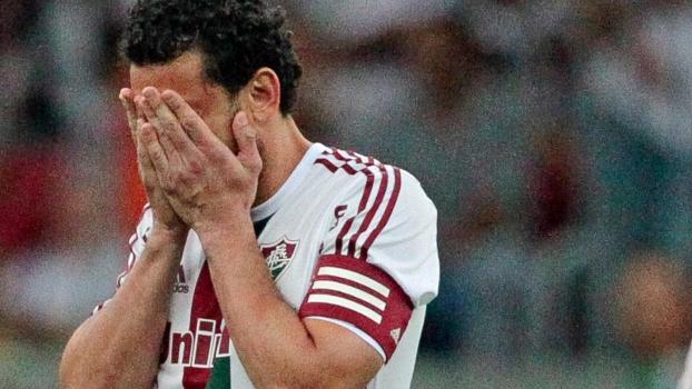 O atacante Fred perdeu um pênalti na derrota do Fluminense neste domingo