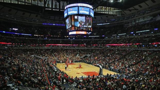 United Center lotado em jogo dos Bulls