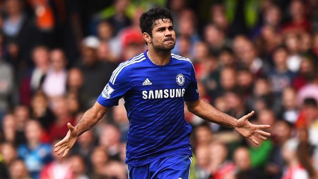 Um gol por jogo, recorde histórico e premiações: assim é Diego Costa com a camisa do Chelsea