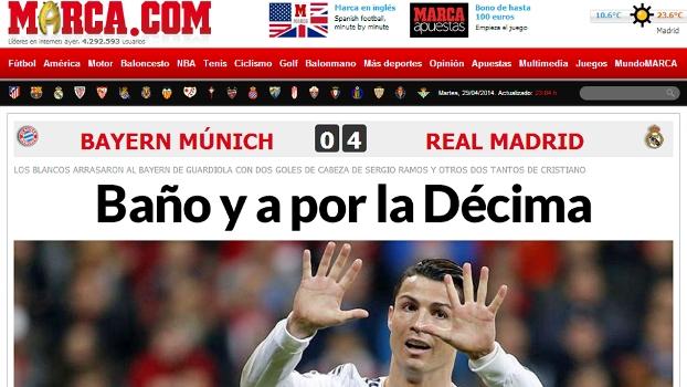 'Banho e briga pela Décima', publicou o Marca