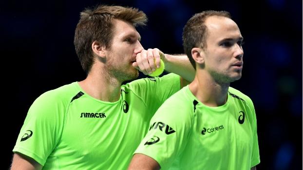 Bruno Soares e Alexander Peya perderam para irmãos Bryan por 2 sets a 0 e estão eliminados do ATP Finals
