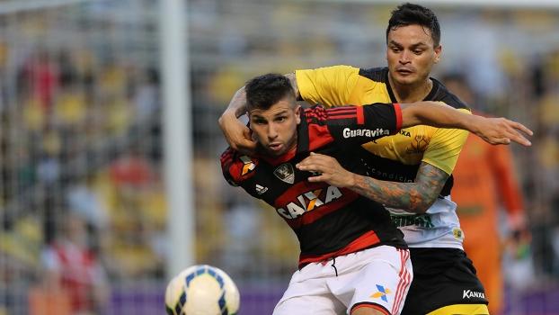 Lucas Mugni voltou a marcar pelo Flamengo após 148 dias com pênalti convertido contra o Criciúma