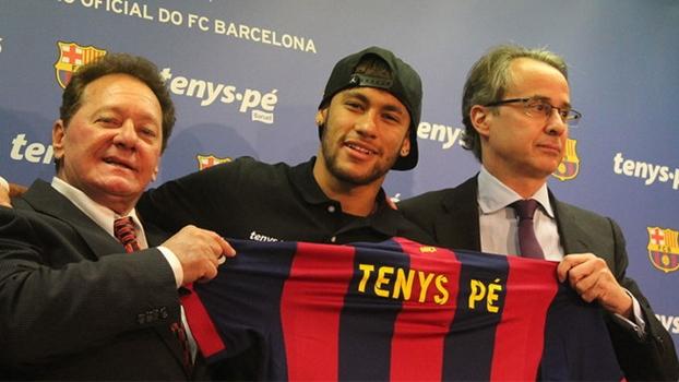 Neymar participou da coletiva para anunciar novo patrocinador do Barça