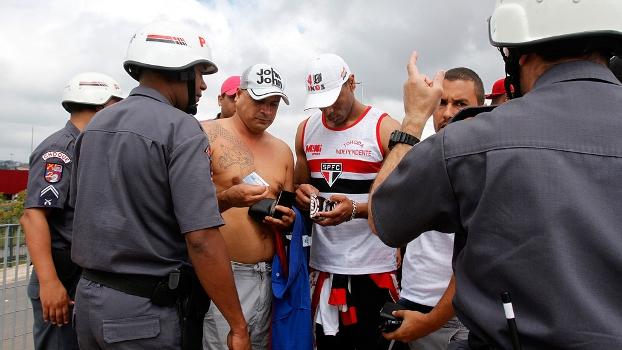 Torcida São Paulo Polícia Militar PM Clássico Corinthians Campeonato Brasileiro 21/09/2014