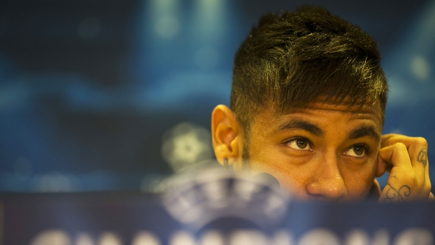 Neymar Coletiva Barcelona Champions 20/10/2014