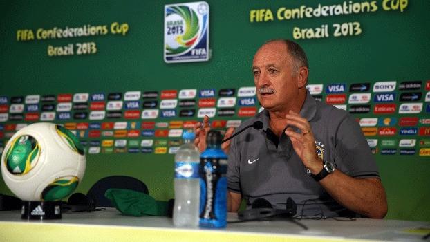 Luiz Felipe Scolari, em entrevista coletiva da seleção brasileira: velhos métodos