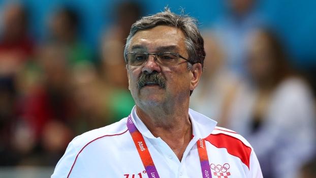 Ratko Rudic, técnico da seleção brasileira, durante os Jogos Olímpicos de 2012