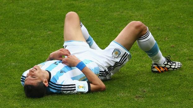 Di María se lesionou com cerca de 30 minutos do primeiro tempo da partida contra a Bélgica
