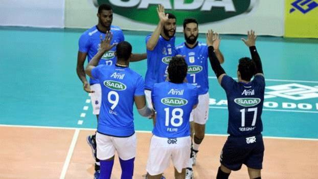 O Sada Cruzeiro superou a UFJF de virada e avançou às semifinais da Copa Brasil