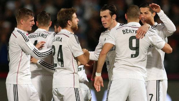 O Real Madrid tenta ganhar o Mundial no atual formato pela primeira vez