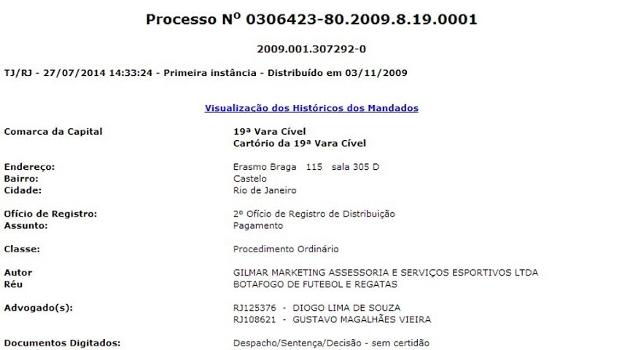 Botafogo está com 100% das contas bloqueadas por conta de dívidas