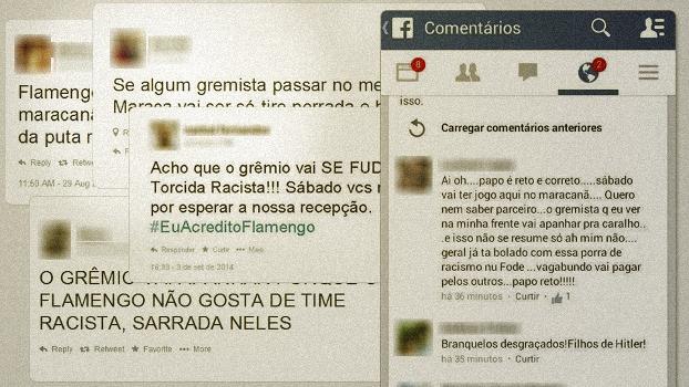 Ameaças - Grêmio via redes sociais