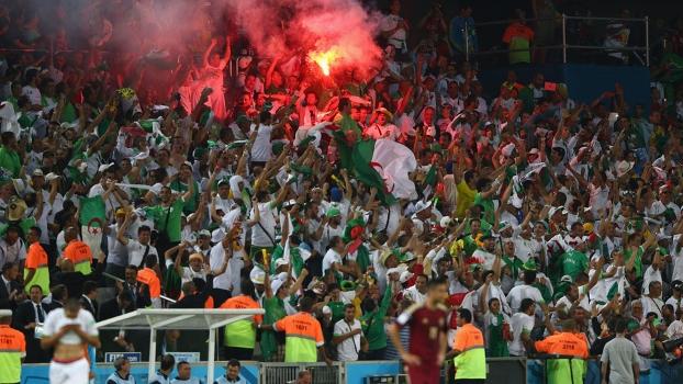 Torcida argelina fez grande festa na Arena da Baixada