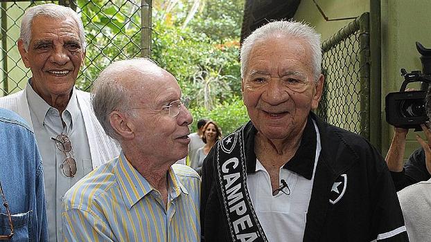 Zagallo e Nilton Santos, companheiros de Botafogo e seleção brasileia