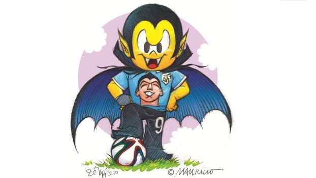 QUADRINHADA NA COPA: Zé Vampir anuncia torcida especial por Uruguai e Suárez