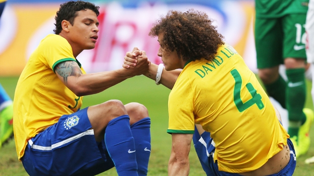 Thiago Silva David Luiz Brasil Sérvia Amistoso Morumbi 06/06/2014