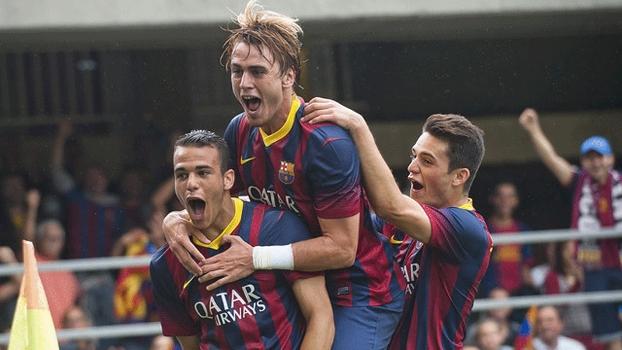Sandro Ramírez marcou o primeiro gol do Barcelona B contra o Castilla