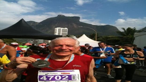 Oswaldo Silveira, 84 anos, campeão da Maratona de Nova York (3h59)