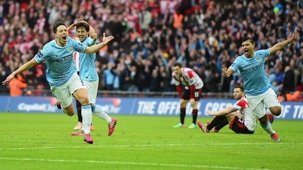 Nasri gol City x Sunderland Copa Liga Inglesa 02032014