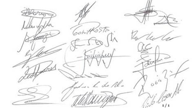 Jogadores assinaram o documento que pede um 'futebol melhor'
