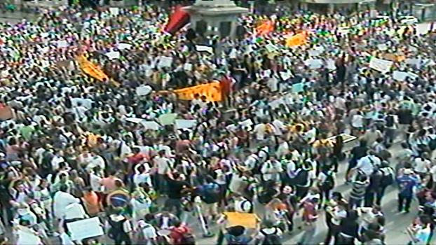 Protesto levou milhares de pessoas às ruas de Belo Horizonte