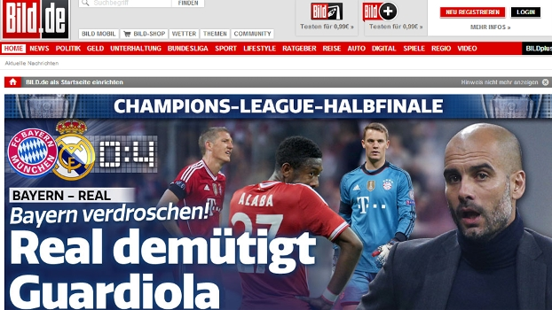 'Real humilha Guardiola', estampou o Bild