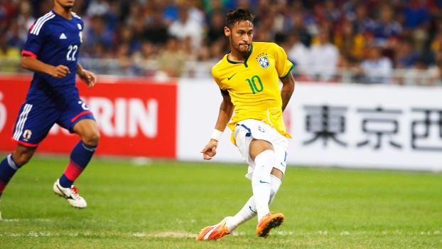 Neymar Chuta Gol Brasil Japão Amistoso 14/10/2014