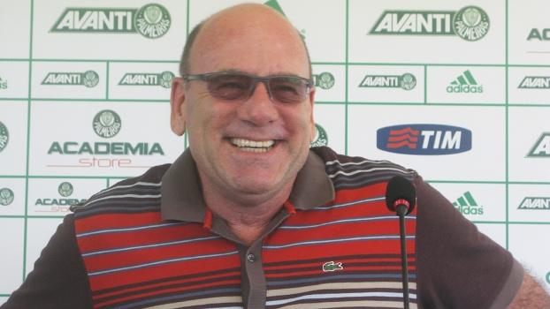 José Carlos Brunoro, diretor executivo do Palmeiras, durante entrevista coletiva na Academia de Futebol
