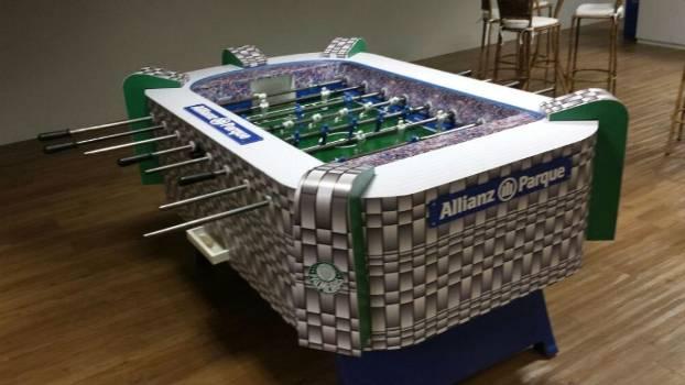 Pebolim foi colocado no Allianz Parque na semana passada