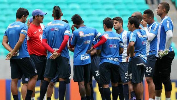Jogadores do Bahia durante treino da equipe