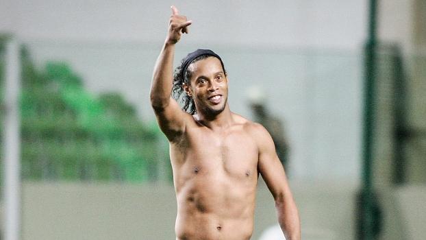 Ronaldinho Gaúcho fez seu primeiro gol com a camisa do Atlético-MG