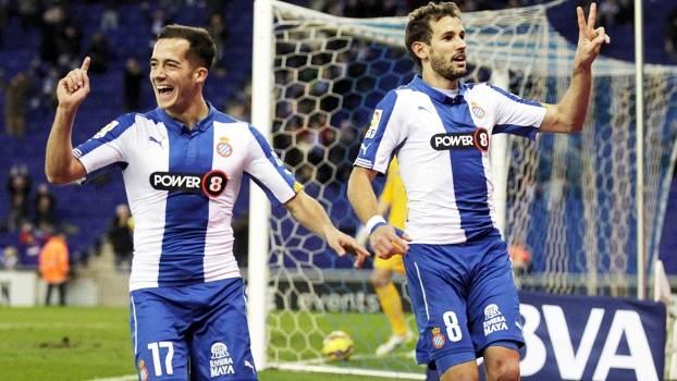 Stuani Comemora Gol Espanyol Almeria Campeonato Espanhol 25/01/2015