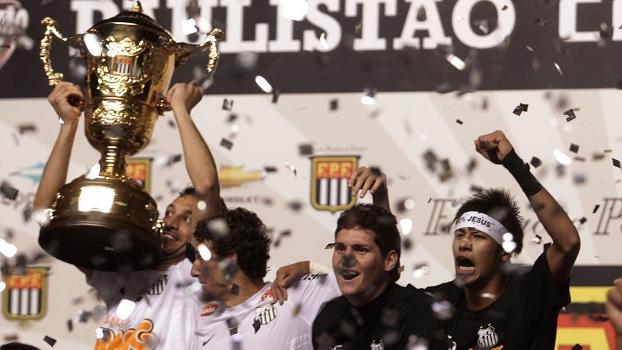 Santos foi campeão paulista em 2012 ao levar a melhor sobre o Guarani na decisão