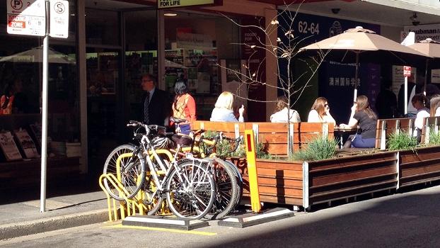 Paraciclos em Adelaide, na Austrália