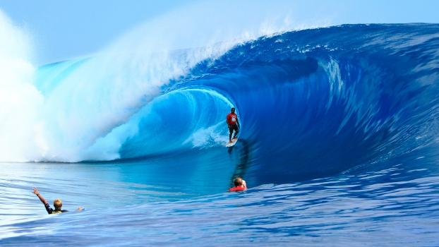 A onda de Teahupoo, proporciona vários tipos de enquadramento